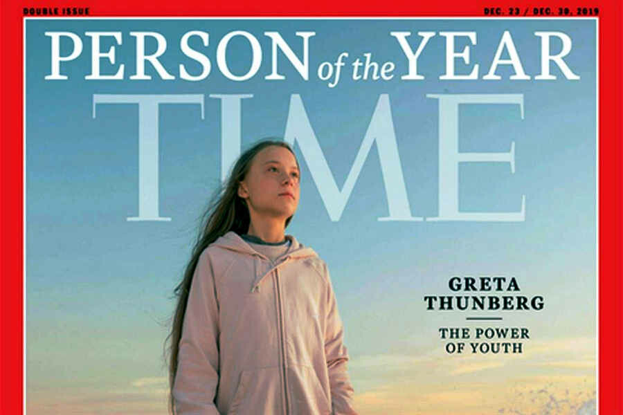 La copertina di TIME dell'anno scorso, con Greta, 'Person of The Year'